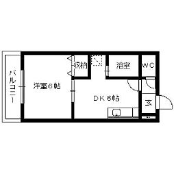 ピュアクローネI[203号室]の間取り