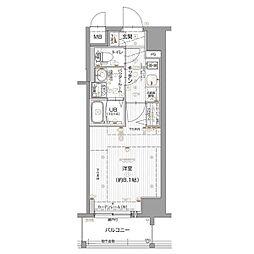 名古屋市営名城線 東別院駅 徒歩8分の賃貸マンション 6階1Kの間取り