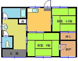 [一戸建] 岡山県総社市中央1丁目 の賃貸【/】の間取り