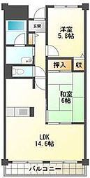 エスポワール弐番館[3階]の間取り
