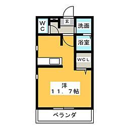 サン鳥居松[2階]の間取り