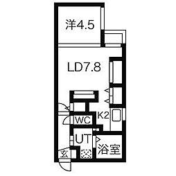 Zweit Logik(ツヴァイトロジック)[4階]の間取り