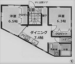 神奈川県横浜市鶴見区東寺尾3丁目の賃貸アパートの間取り