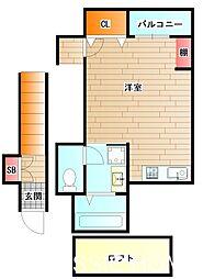 大阪府堺市北区船堂町1丁の賃貸アパートの間取り