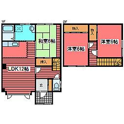 [テラスハウス] 北海道札幌市豊平区福住三条8丁目 の賃貸【北海道 / 札幌市豊平区】の間取り