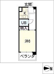エステートみちづか B棟[3階]の間取り