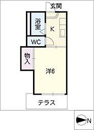 タウニー六番[1階]の間取り