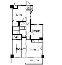 ライオンズマンション鶴見本町通り(最上階住戸)[1003(日当たり良好)号室]の間取り