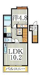 エクセレント南柏[2階]の間取り