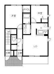 コート・ソフィア A棟[1階]の間取り