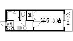 クラージュSB[3階]の間取り