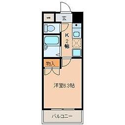 ラ・ポート八熊苑[303号室]の間取り