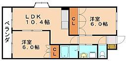 ロイヤルハイツ[2階]の間取り