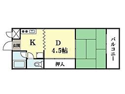 M'プラザ大住弐番館[4階]の間取り