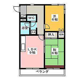SESビル[4階]の間取り