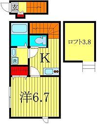 ウィング・ジムコ[2階]の間取り