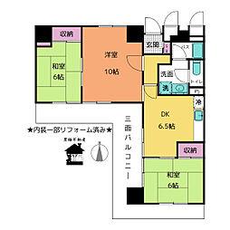 大須土方ドリームマンション[8階]の間取り