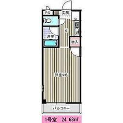 キャスティル3[3階]の間取り