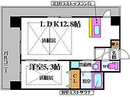 ノルデンタワー新大阪プレミアム 13階1LDKの間取り