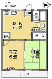 ファミール井草[102号室]の間取り