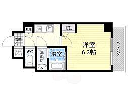S-RESIDENCE江坂Crescent 7階1Kの間取り