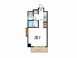 JR山陽本線 東加古川駅 徒歩7分の賃貸マンション 6階1Kの間取り