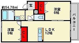 ペイド・エスポワールA[1階]の間取り