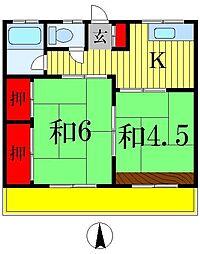 メゾン八ヶ崎[1階]の間取り