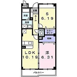 Residence MAT(レジデンスマット)[201号室]の間取り