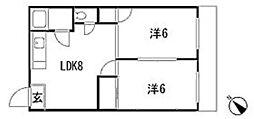 広島県広島市安佐南区長束5丁目の賃貸マンションの間取り