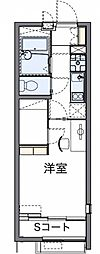 東京都八王子市泉町の賃貸アパートの間取り