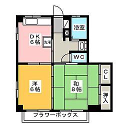 メゾンHero[2階]の間取り