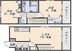 ファミールアビタシオン[4階]の間取り