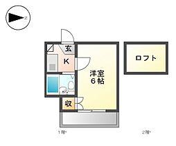 サングリーン 上飯田[2階]の間取り