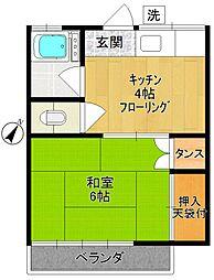 せきやま荘[202号室]の間取り