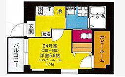 b'CASA Yokohama Higashi[2階]の間取り