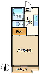 メゾンパークサイド 202[2階]の間取り