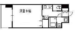 Osaka Metro中央線 高井田駅 徒歩2分の賃貸マンション 7階1Kの間取り