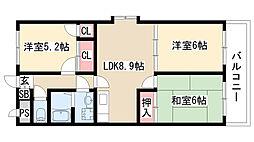 愛知県名古屋市緑区大高台3丁目の賃貸マンションの間取り