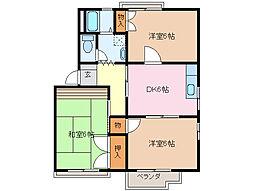 ジュノン藤ヶ丘 B棟[1階]の間取り