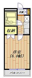 ジュネパレス平塚第11[102号室]の間取り