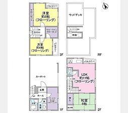[一戸建] 東京都中野区江古田2丁目 の賃貸【/】の間取り