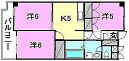 リバーサイドハイツ三原[202 号室号室]の間取り