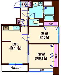 akira quattro[8階]の間取り