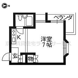 マンション稲垣[502号室]の間取り