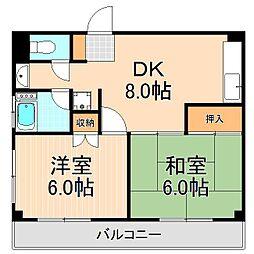 恩田コーポ[402号室]の間取り