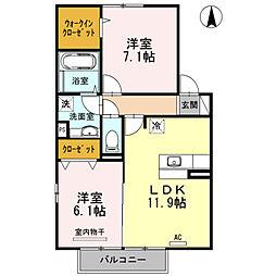 グレイス賀来 B棟[2階]の間取り