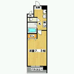 五条高倉Vivre2(旧 五条高倉レジデンスHORI)[605号室]の間取り