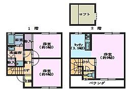 ウィングハウス客田S・Y[A103号室]の間取り