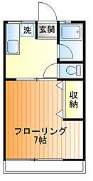 第1豊実荘[205号室]の間取り